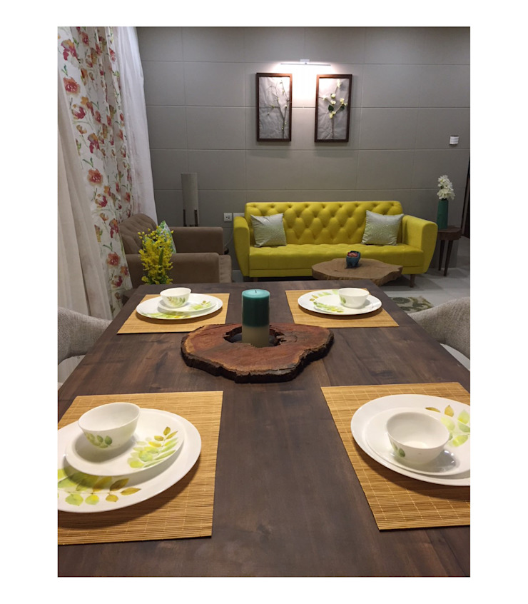 2BHK | 24k Wakad, Pune Eclectic style dining room by Nikhil Kanthe Eclectic