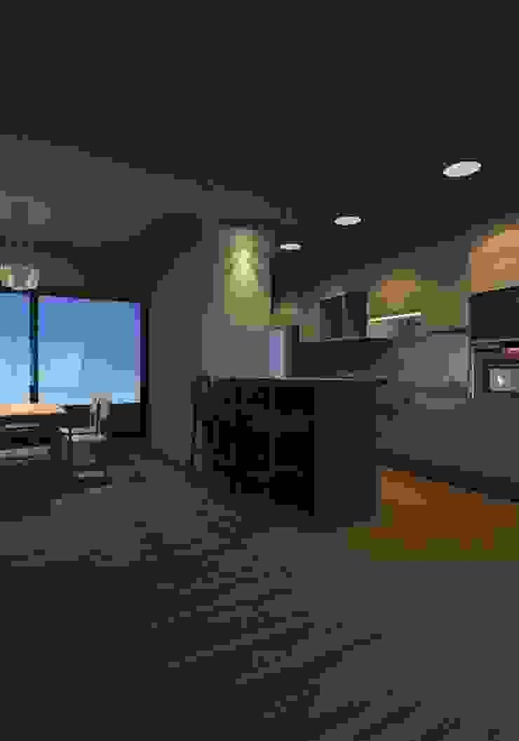 FASETIK arquitectura Small kitchens White