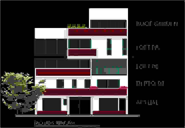 FASETIK arquitectura Multi-Family house Bricks White