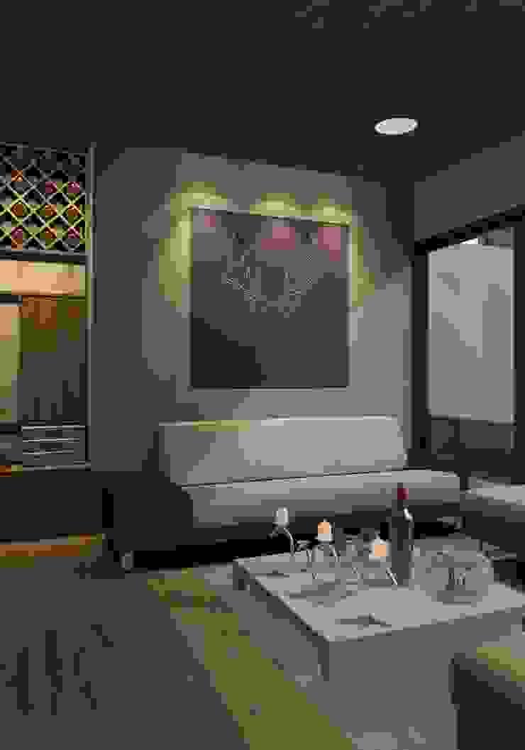 FASETIK arquitectura Modern living room White