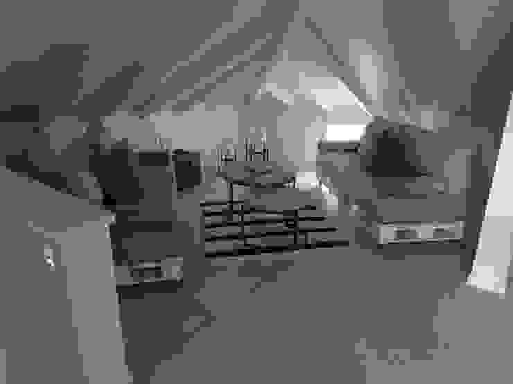 Altillo sector de estar de Estudio Dillon Terzaghi Arquitectura - Pilar Mediterráneo Cerámico