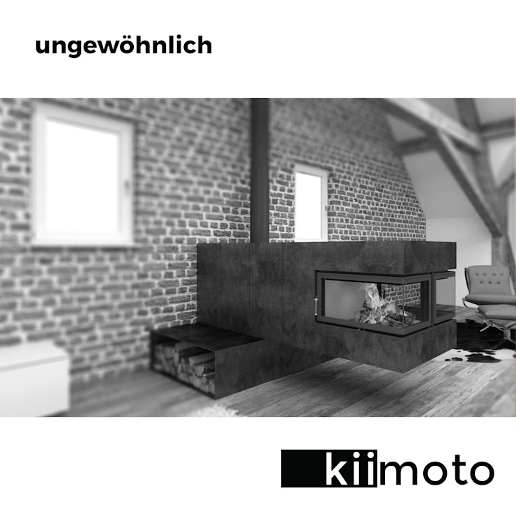 kiimoto kamine Minimalist living room Iron/Steel Metallic/Silver