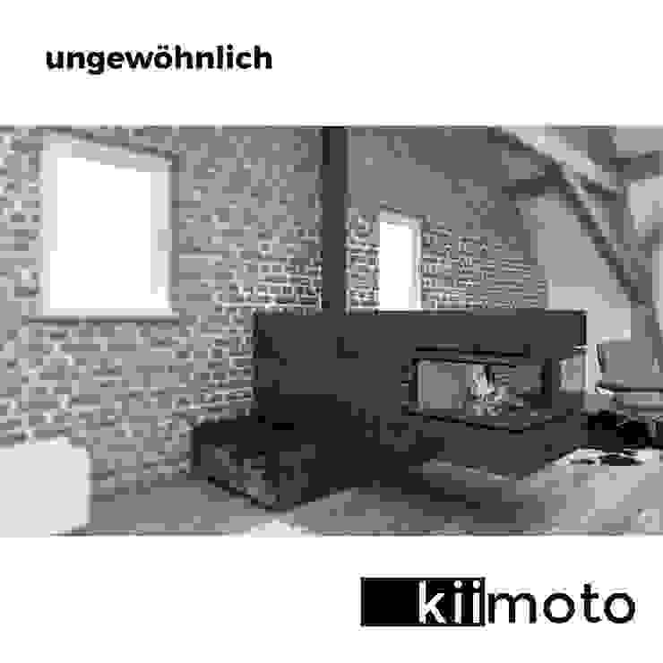 Kamineck Minimalistische Wohnzimmer von kiimoto kamine Minimalistisch Eisen/Stahl