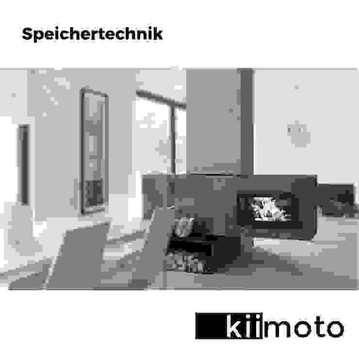 Kamin Speichertechnik von kiimoto kamine Skandinavisch Eisen/Stahl