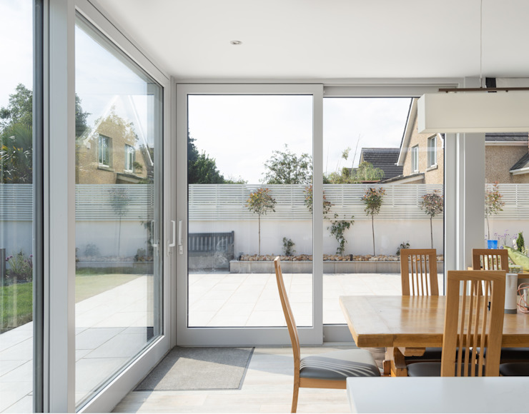 Contemporary Extension Project Photography Hackett Visuals Country style conservatory Ceramic Blue