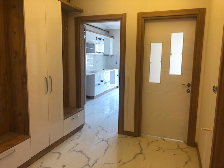 Daire girişi Modern Koridor, Hol & Merdivenler ASK MİMARLIK İNŞAAT Modern