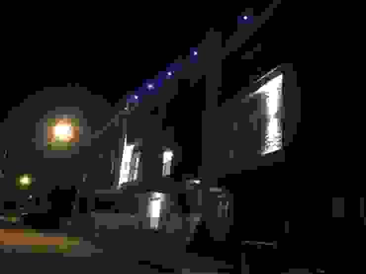 Binamızın dış cephe aydınlatması Modern Duvar & Zemin ASK MİMARLIK İNŞAAT Modern