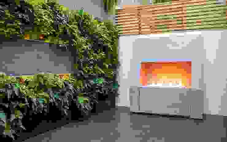 Outdoor Fireplace MyLandscapes Garden Design 庭院 石灰岩