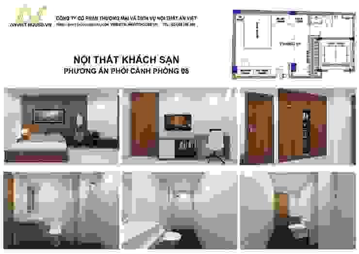 Thiết kế phòng khách sạn hiện đại, tiện nghi - Mỹ Đình, Hà Nội bởi An Viet Trading and Interior Service Joint Stock Company