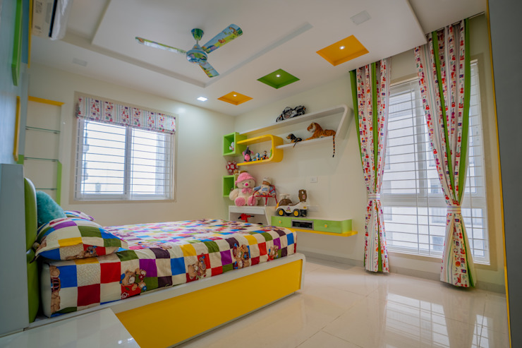 Luxurious Children Bedroom Designed by Nabh Design & Associates Nabh Design & Associates Modern nursery/kids room Plywood White