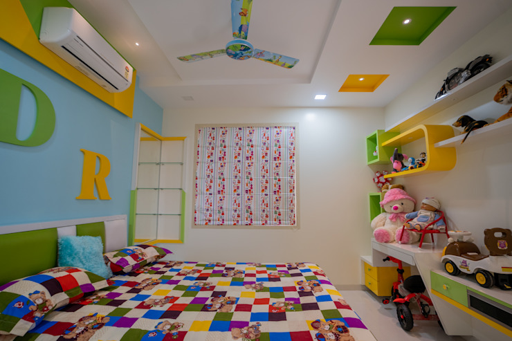 Luxurious Children Bedroom Designed by Nabh Design & Associates Nabh Design & Associates Modern nursery/kids room Solid Wood Yellow