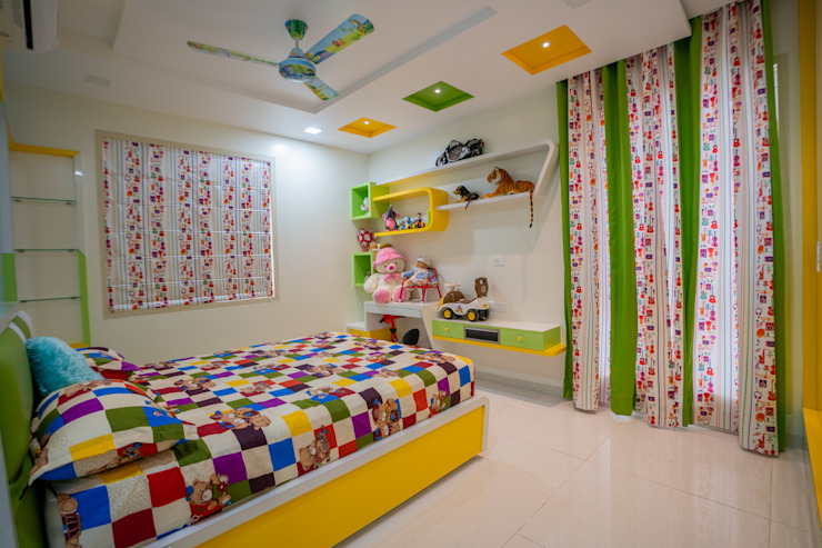Luxurious Children Bedroom Designed by Nabh Design & Associates Nabh Design & Associates Modern nursery/kids room Plywood Green