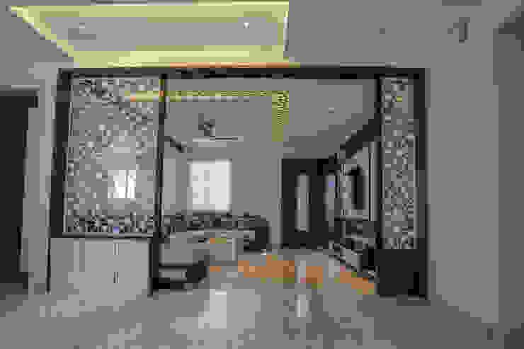 Stylish Home by Nabh Design & Associates Nabh Design & Associates Modern living room Marble Beige