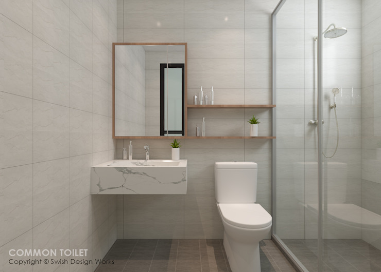 Bathroom Swish Design Works Modern bathroom Plywood White