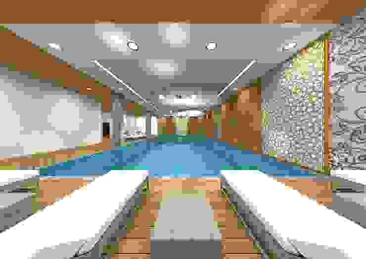 Rustic style pool by bilen proje Rustic