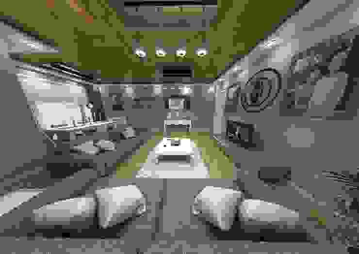 Rustic style living room by bilen proje Rustic
