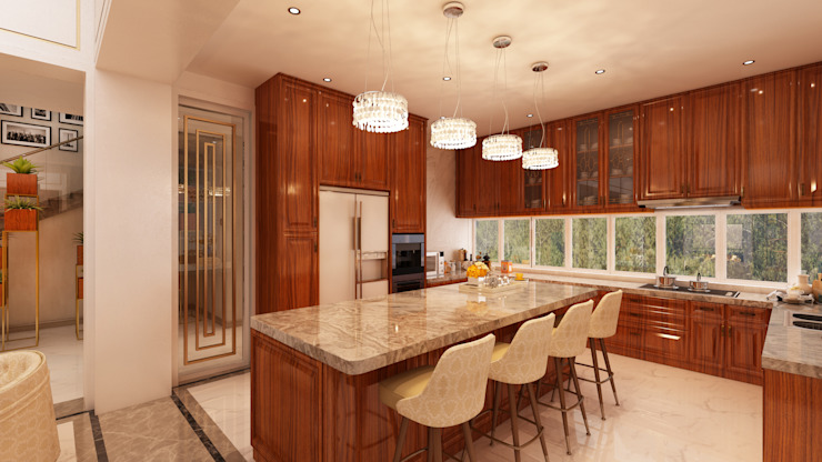 Cocinas de estilo moderno de Alpha Details Moderno