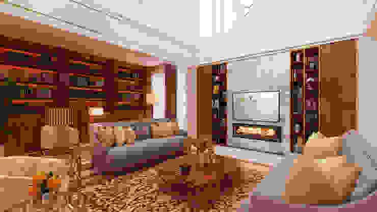 Salones de estilo moderno de Alpha Details Moderno