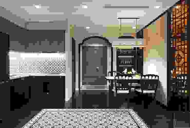 """Phong cách nội thất phương Đông với tông màu """"HỒNG"""" Phòng ăn phong cách châu Á bởi ICON INTERIOR Châu Á"""
