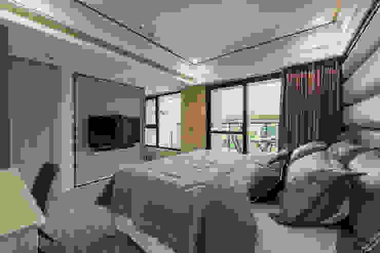 主臥電視牆 根據 你你空間設計 現代風 塑木複合材料