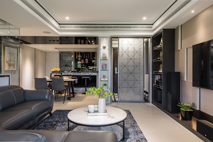 客廳 现代客厅設計點子、靈感 & 圖片 根據 你你空間設計 現代風 塑木複合材料