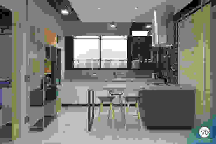 Cozinha Cozinhas industriais por studio vtx Industrial Concreto