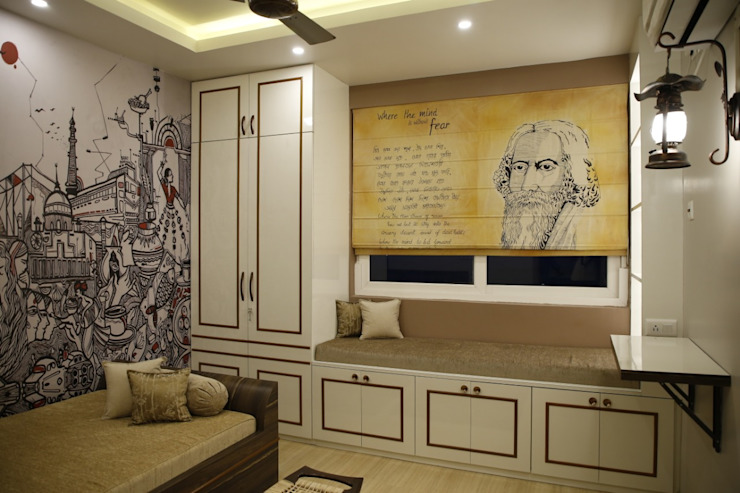 Adda Ghor:  Living room by Kphomes,Modern