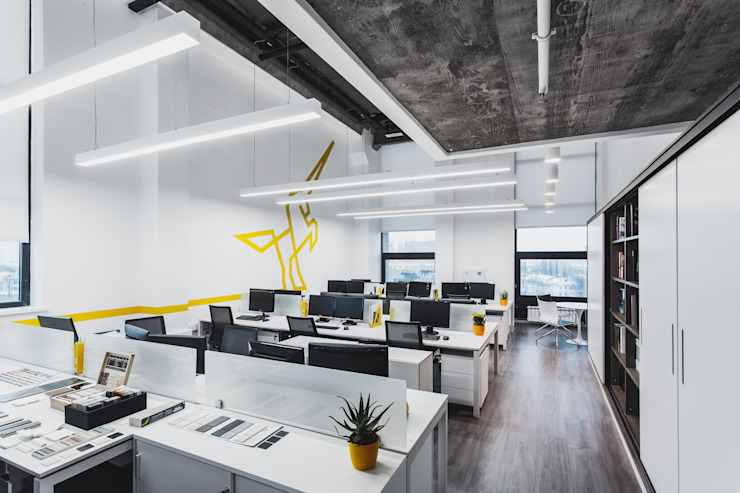 diseño de interiores de Go Proyect Soluciones y Servicios S.A.S Minimalista Algodón Rojo