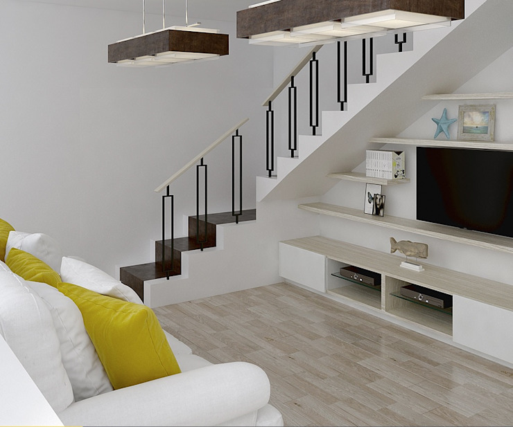 CENTRO DE TV de Moss arquitectura y mobiliario SAS Moderno Madera Acabado en madera