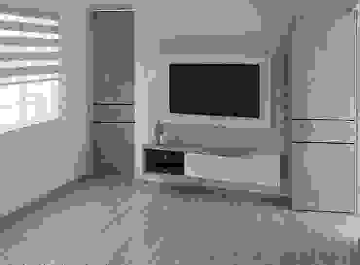 MUEBLE PARA TV de Moss arquitectura y mobiliario SAS Moderno Bambú Verde