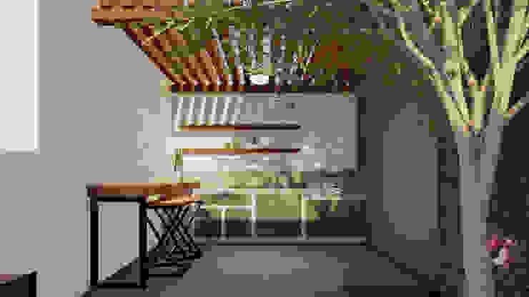 Patio DB VETA taller creativo Balcones y terrazas industriales