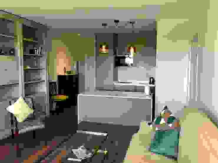 SALON-COCINA Salones de estilo moderno de Arquide Estudio, reforma y rehabilitación en Madrid Moderno