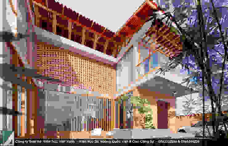 Biệt thự 2 Tầng – Mộc mạc bởi Kiến trúc Việt Xanh