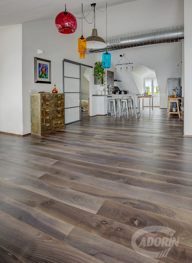 Cadorin Group Srl - Italian craftsmanship production Wood flooring and Coverings Industrial style dining room