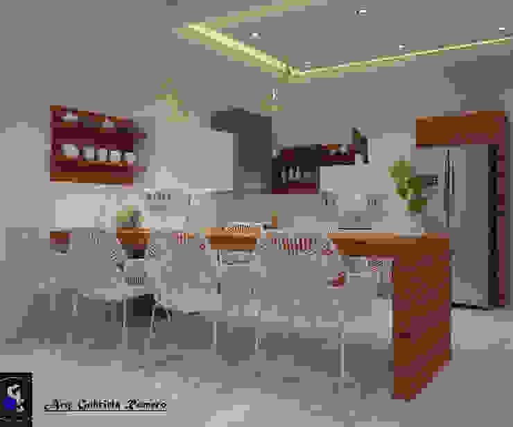 cocina Cocinas mediterráneas de arq.Gabriela R/ Construyendo Espacios Mediterráneo