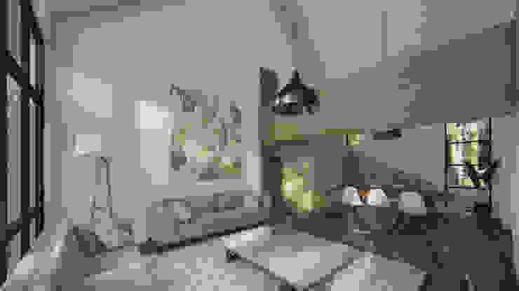 Habitaciones modernas de Soc. Constructora Cavent Spa Moderno