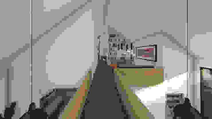 Hành lang, sảnh & cầu thang phong cách hiện đại bởi Soc. Constructora Cavent Spa Hiện đại