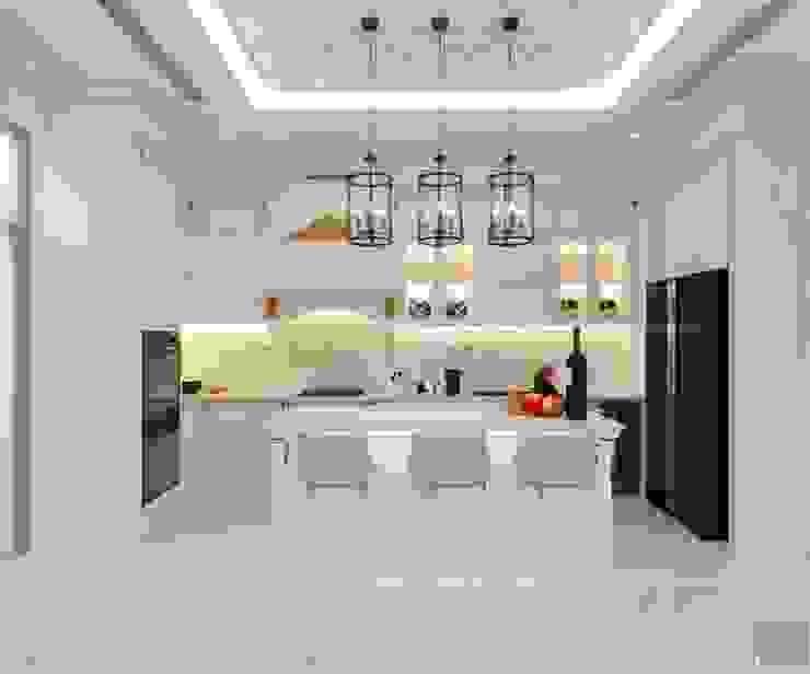 Thiết kế biệt thự Tân Cổ Điển 2 tầng sang trọng và đẳng cấp Châu Âu Nhà bếp phong cách kinh điển bởi ICON INTERIOR Kinh điển