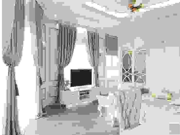 Thiết kế biệt thự Tân Cổ Điển 2 tầng sang trọng và đẳng cấp Châu Âu Phòng ngủ phong cách kinh điển bởi ICON INTERIOR Kinh điển