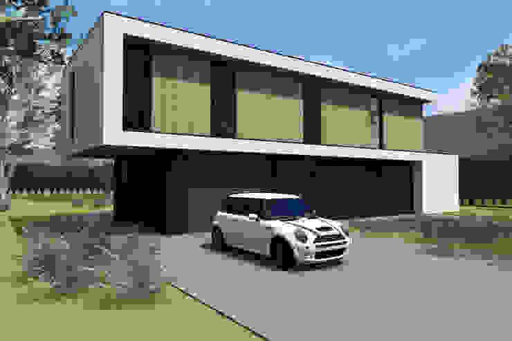 2 laags bouwvolume met doorlopend kader van Studio FLORIS