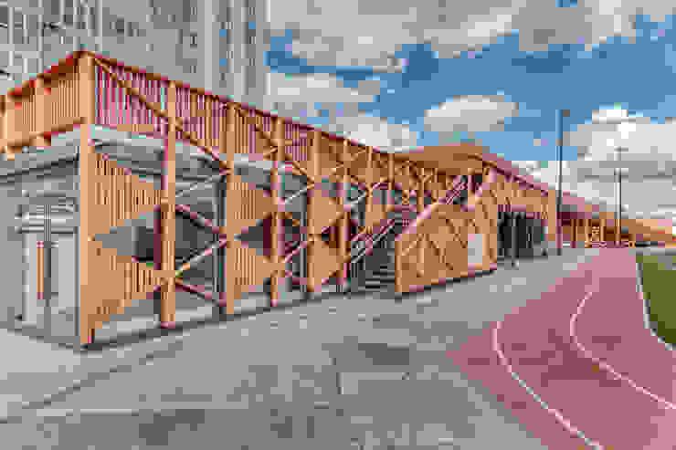Спортивно-развлекательный комплекс МЕГА. Химки Торговые центры в скандинавском стиле от Alpbau Скандинавский Дерево Эффект древесины