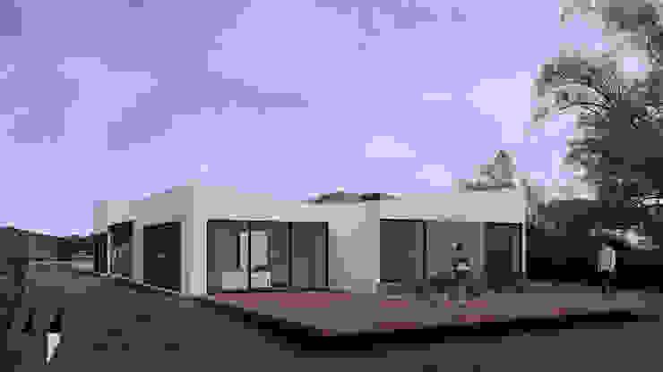 Vista exterior deck de Taller Once Arquitectura Minimalista