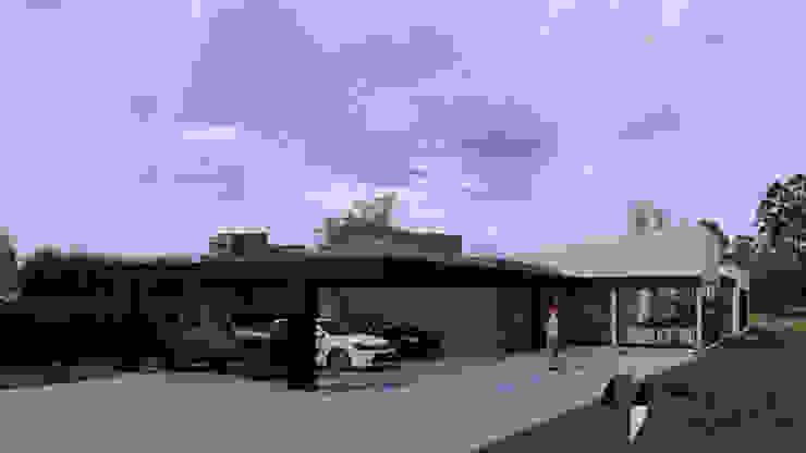 Vista exterior acceso de Taller Once Arquitectura Minimalista