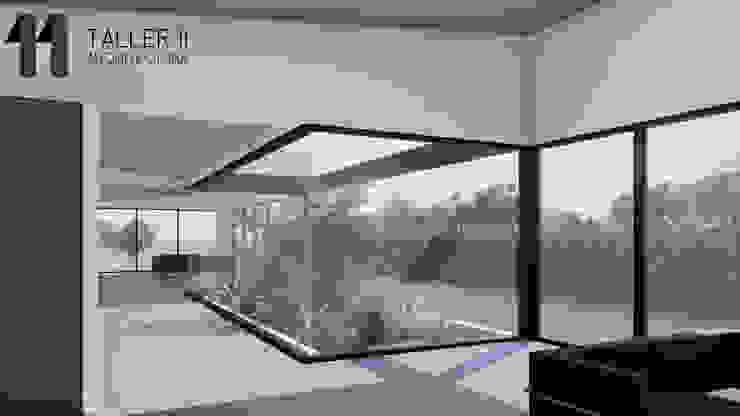 Vista interior jardín Jardines de estilo minimalista de Taller Once Arquitectura Minimalista