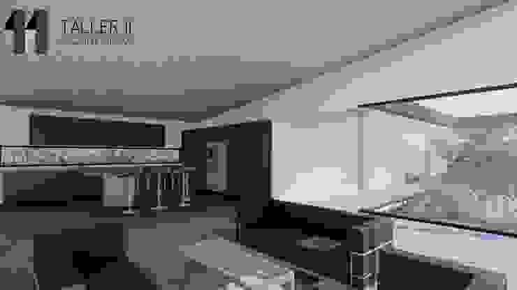 Vista interior zona social Salas de estilo minimalista de Taller Once Arquitectura Minimalista