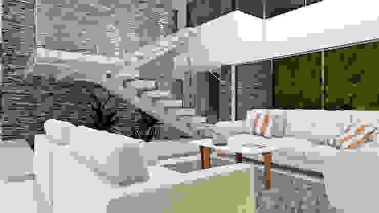 CASA LLANO Salas modernas de M.arquitectura Moderno Cerámico