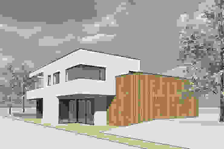 stuc en hout van Studio FLORIS Modern Aluminium / Zink