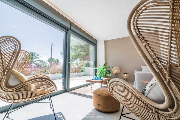 Mobiliario de salón Francisco Pomares Arquitecto / Architect Salones de estilo mediterráneo