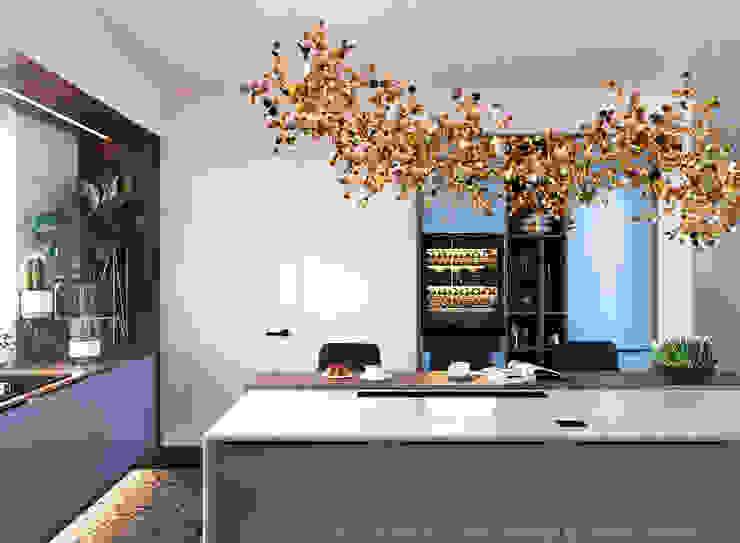 Студия Дизайна Виктории Королевой Built-in kitchens Wood Pink