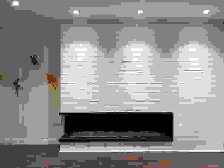entrearquitectosestudio Modern walls & floors Bricks White